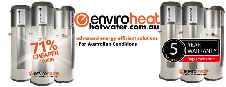 Enviroheat heat pump hot water heater